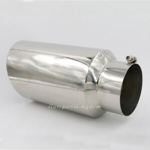 5 Inlet 7 Outlet 15 Long Stainless Steel Rolled Edge 20 Exhaust Tip Diesel