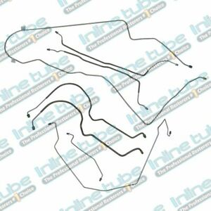 1976 77 Grand Prix Power Disc Complete Full Brake Lines Tubes Kit Set Oe Steel