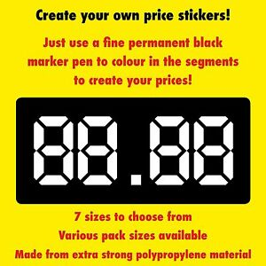 Price Labels Stickers Create Your Own Prices 7 Sizes