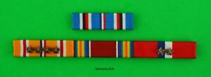 WWII Philippines Asia Pacific Service Mounted Ribbon Bars WW2 $16.49
