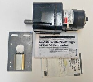 Dayton Model 2h618 Industrial Gear Motor 1 58hp 1 2 Rpm