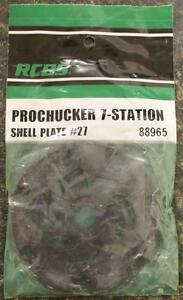 NEW RCBS Pro Chucker 7 Station Shell Holder Plate #27 88965 Auto Index Press