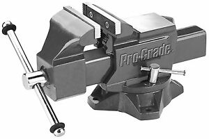 Pro grade 59113 Heavy Duty Swivel Bench Vice 4 inch 4 Mechanics Hardened Steel