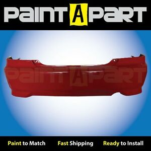 2004 2005 Honda Civic Coupe Rear Bumper Painted R513 Rallye Red