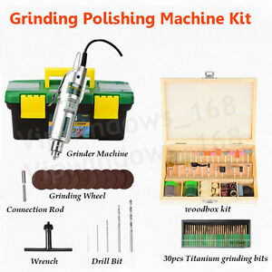 Mini Electric Grinder Variable Speed 220v 8000 11500rpm Jade Wood Polishing Set