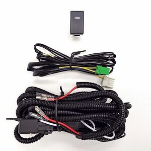 H3 12v 30a Fog Light Wiring Harness Relay Kit On Off Led Switch 2 Plugs Wire
