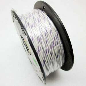 490 Ft Rc1c18awgwt v 18awg Hook Up Wire White W Violet Stripes Electrical