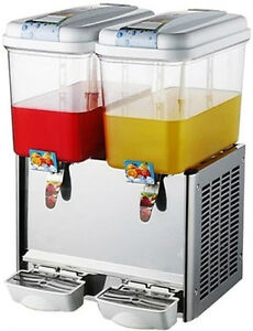 New Commercial Twin Bowl Hot Cold Drink Dispenser 220v