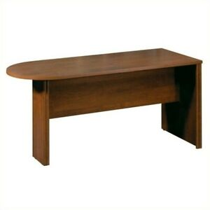 Bestar Embassy Half Racetrack 5 5 Conference Table In Tuscany Brown