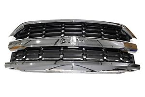 Oem New Front Grille Assembly Chrome W o Emblem 2016 Silverado 1500 84374378