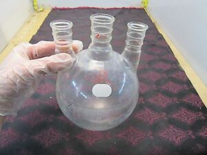 Ace Glass 2000ml 2l 3 Neck Round Bottom Flask 24 40 29 42 2 n 26 5