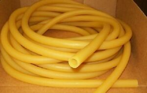 20 Continuous Feet 1 2 I d X 1 8 Wall X 3 4 O d Latex Rubber Tubing Amber Us