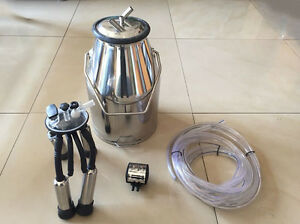 New Cow Milker Milking 25l Bucket Tank Lid With Handle 304 Stainless Steel