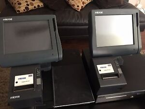 Micros Pos Workstation E7 Work Station drawer Printer System