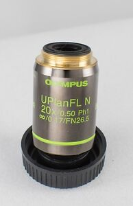 Olympus 20x Uplanfl N 0 50 Phase Microscope Objective Lens Price Reduced