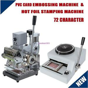 72 Character Pvc Card Embossing Embosser Hot Foil Stamping Tipper Machine