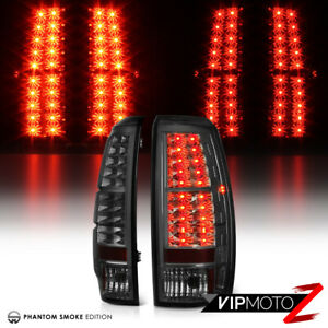 2007 2013 Chevy Avalanche Smoke Lens Led Smd Rear Brake Tail Lights Lamps Pair