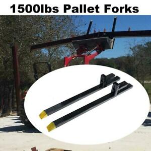 60 2000lb Clamp On Pallet Forks For Loader Tractor Bucket Skidsteer Heavy Duty
