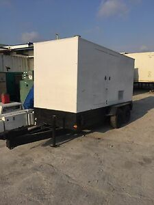 Industrial Generator 250 Kw Enclosed Trailer Generator Sound Attenuated weather