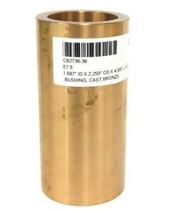 New Cb2736 36 Cast Bronze Bushing 1 687 Id X 2 250 Od X 4 500 l