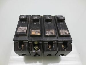 General Electric Thql1120 1 Pole 20 Amp 120 240v Circuit Breakers pack Of 4