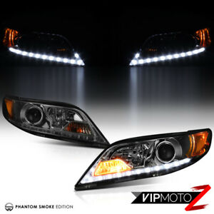 For 11 17 Toyota Sienna Smoke Lens Drl Projector Headlight Set Lamp Assembly Led