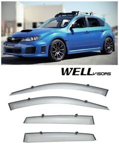 Wellvisors Side Window Visors Premium Series For Subaru Impreza Wrx 2008 2014