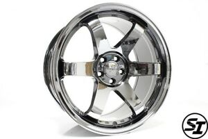 Rota Grid Wheels 18x9 5 38 5x100 Ti Chrome Fits Subaru Wrx 02 14 Scion Tc 05 10