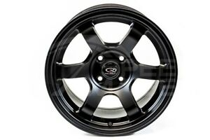 Rota Grid Concave Wheels Flat Black 15x8 4x100 20 Offset For Ek Eg Civic Miata