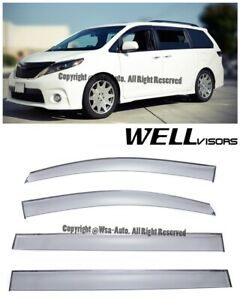Wellvisors Side Window Visors Premium Series Rain Guard Toyota Sienna 2011 2016
