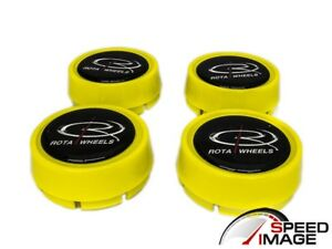 Rota Wheels Moda Yellow Replacement Wheel Center Caps Gt3 Grid V Track R