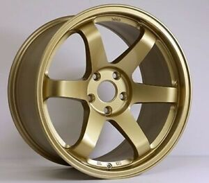 Rota Grid Wheels Gold 18x9 5 38 5x100 Subaru Wrx 02 14 Sti 04 Tc 04 10