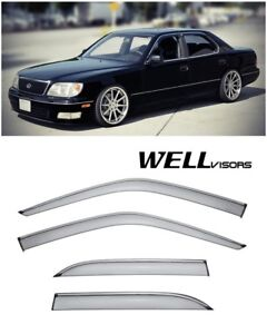 Wellvisors Side Window Visors W Chrome Trim For Lexus Ls400 1995 2000