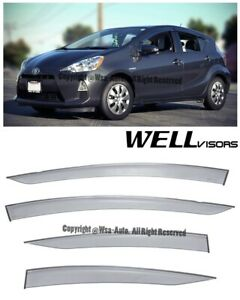 Wellvisors Side Window Visors Premium Series Rain Guard Toyota Prius C 2012 2016