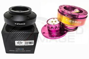 Nrg Steering Wheel Combo Kit 2 0 Qr Pink Neo Chrome Short Hub Adapter Srk 101h
