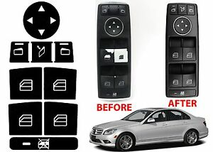 Window Switch Button Repair Stickers For 2008 2014 Mercedes Benz W204 C300 C350