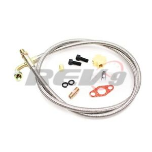 Turbo Oil Feed Line 90 Degree 50 W Restrictor Flange 4an An4 4 T3 T4e T66 T70