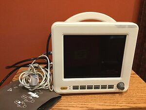 Multi Parameter Mobile Patient Monitor With Arm Band And Finger Pulse Oximeter