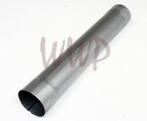 Stainless Steel Exhaust Muffler Delete Pipe Tube 5 Inlet Outlet 30 Length