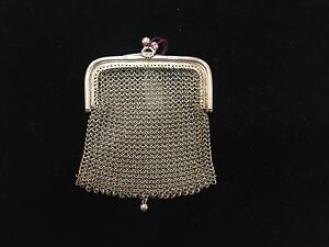 Vintage Art Deco Sterling Silver Miniature Mesh Coin Purse