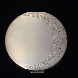 Vintage Sterling Silver Powder Compact Case