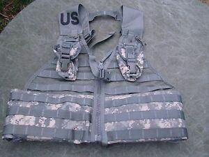 New Molle II Fighting Load Carrier vest Army ACU FLC with pouches $21.95
