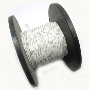 New Approx 1200ft Copperfield 18awg White Hook Up Wire W Gray Stripe