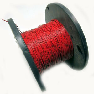 New Approx 1 700ft 18awg Red Hook Up Wire W Black Stripe 300v Electrical