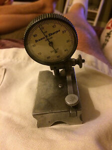 Vintage Brown And Sharpe 7039 Bestest Indicator With Block