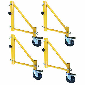 Pro series Gsorwcs 18 Inch Scaffolding Outriggers With Casters 4 Piece Set