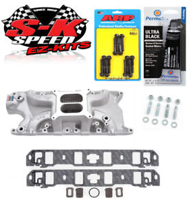 Edelbrock 7121 Ford 260 289 302 Performer Rpm Intake Manifold Bolts Gaskets Rtv