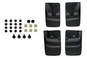 1998 2007 Ford Ranger Front Rear Black Splash Guard Mud Flaps Set Of 4 Oem New