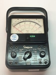 Simpson Vintage Multimeter Ohms Meter 260