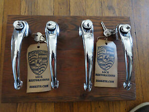 Porsche 356 1957 65 Concours Quality Restored Door Handles With Matching Locks